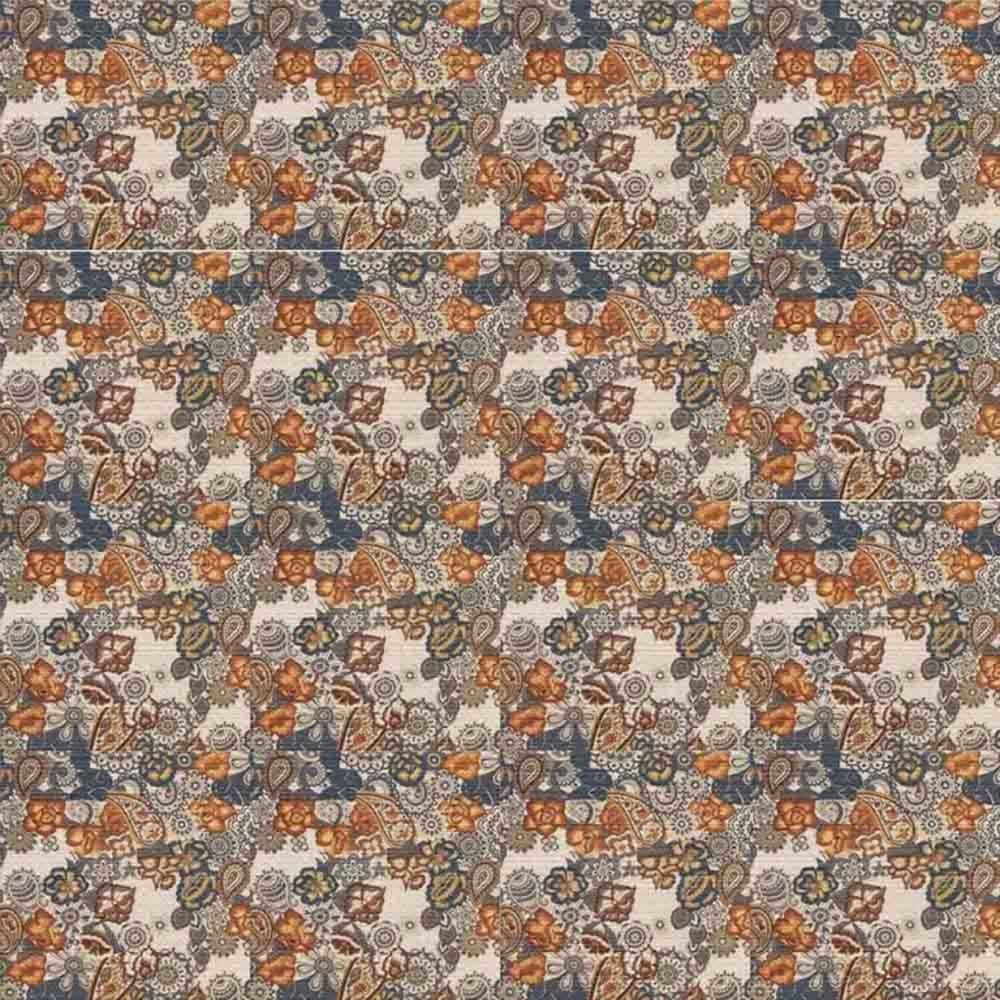 Adesivo para Azulejo Patchwork Arabesco Floral Vinil 15x15cm 16 peças Cosi Dimora