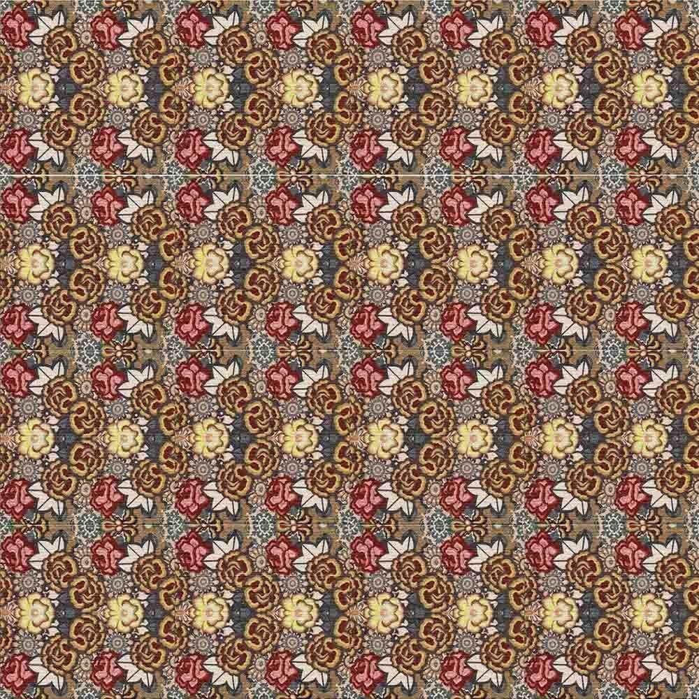 Adesivo para Azulejo Patchwork Flores Color Vinil 15x15cm 16 peças Cosi Dimora