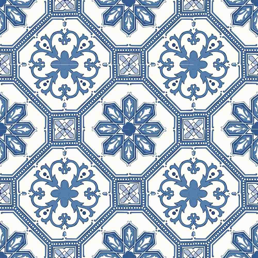 Adesivo para Azulejo Português Coimbra Vinil 15x15cm 16 peças Cosi Dimora
