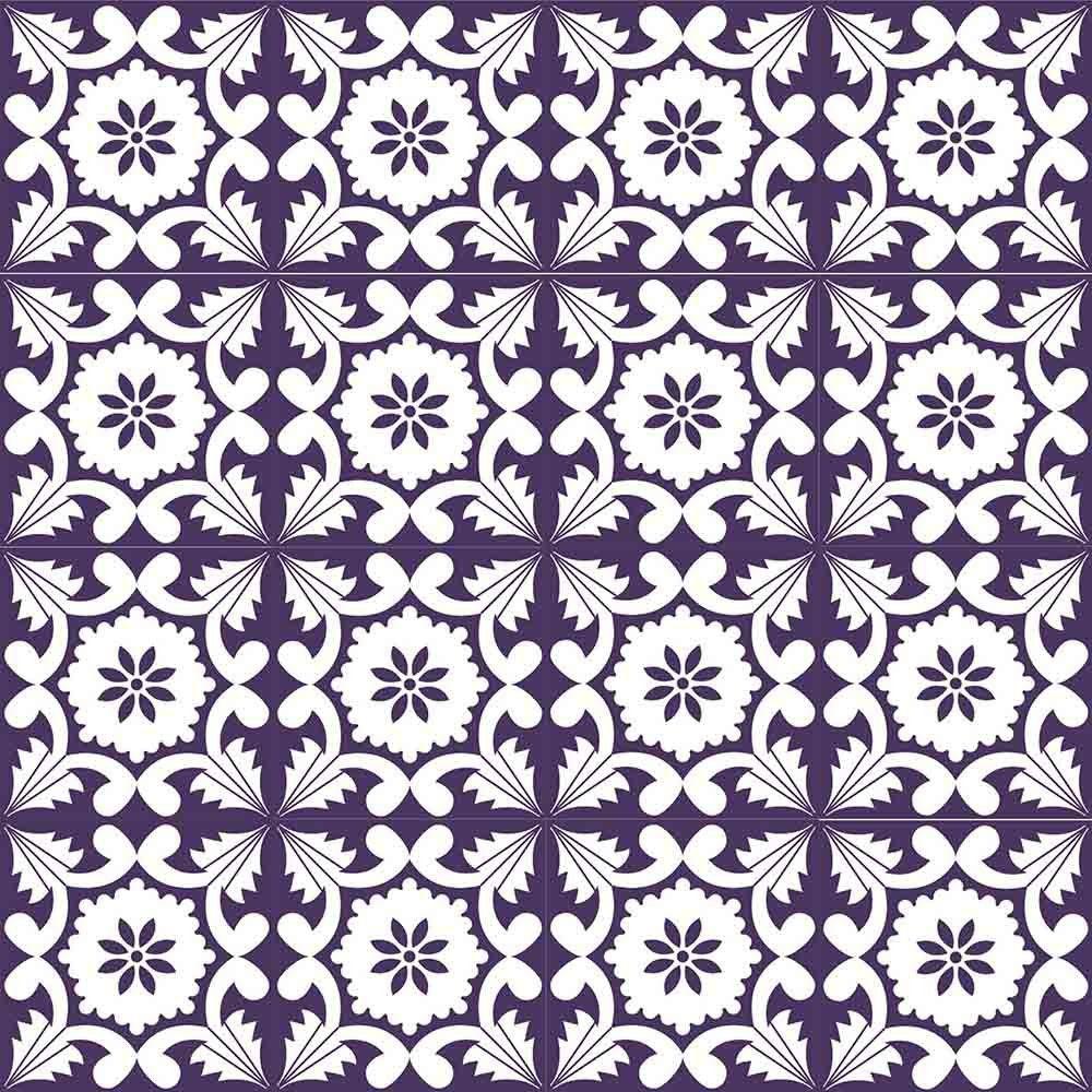 Adesivo para Azulejo Português Funchal Vinil 15x15cm 16 peças Cosi Dimora