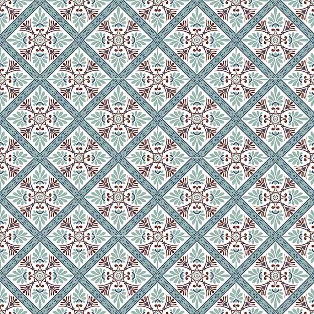 Adesivo para Azulejo Português Maia Vinil 15x15cm 16 peças Cosi Dimora