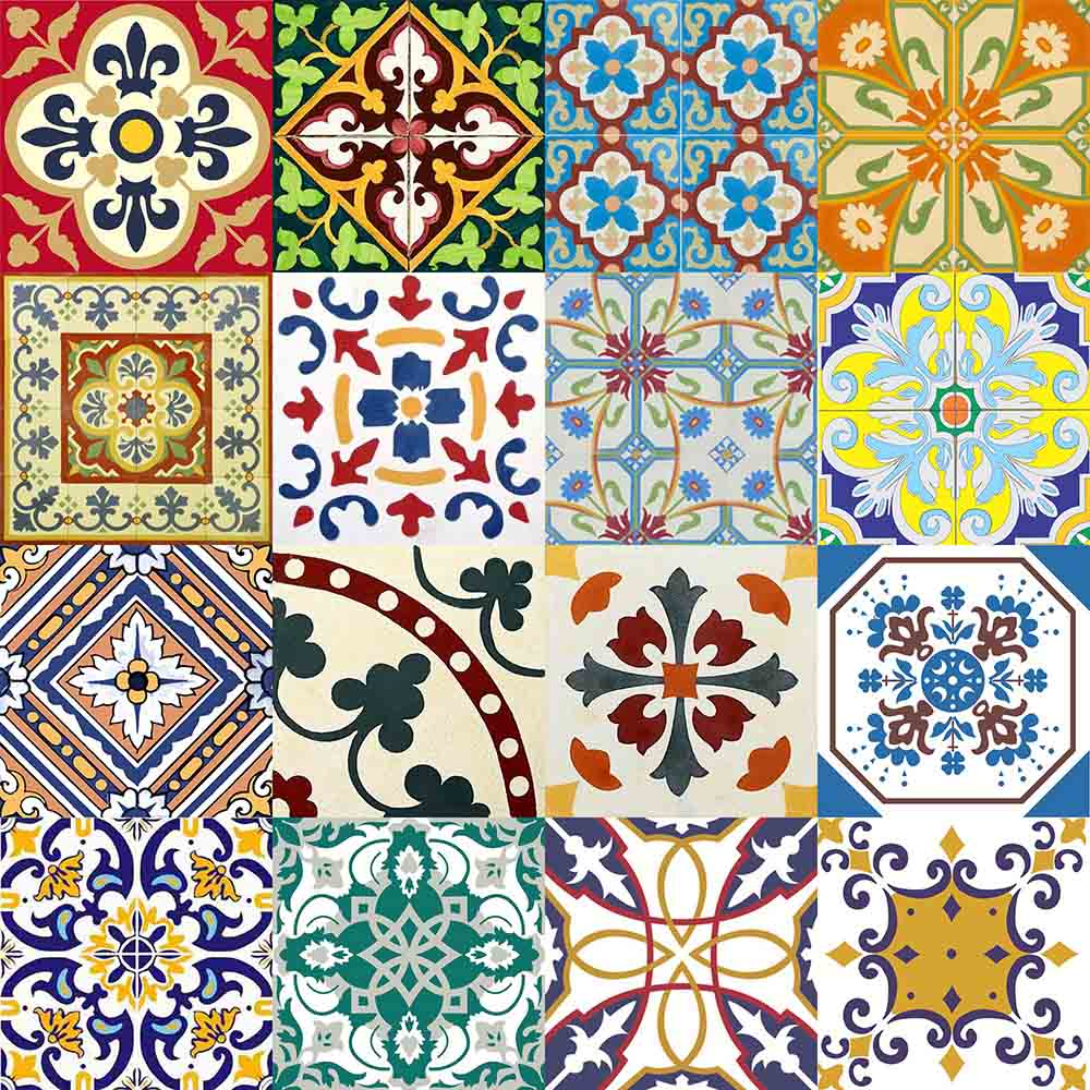 adesivo para azulejo portugu s mosaico amarante 15x15cm 16