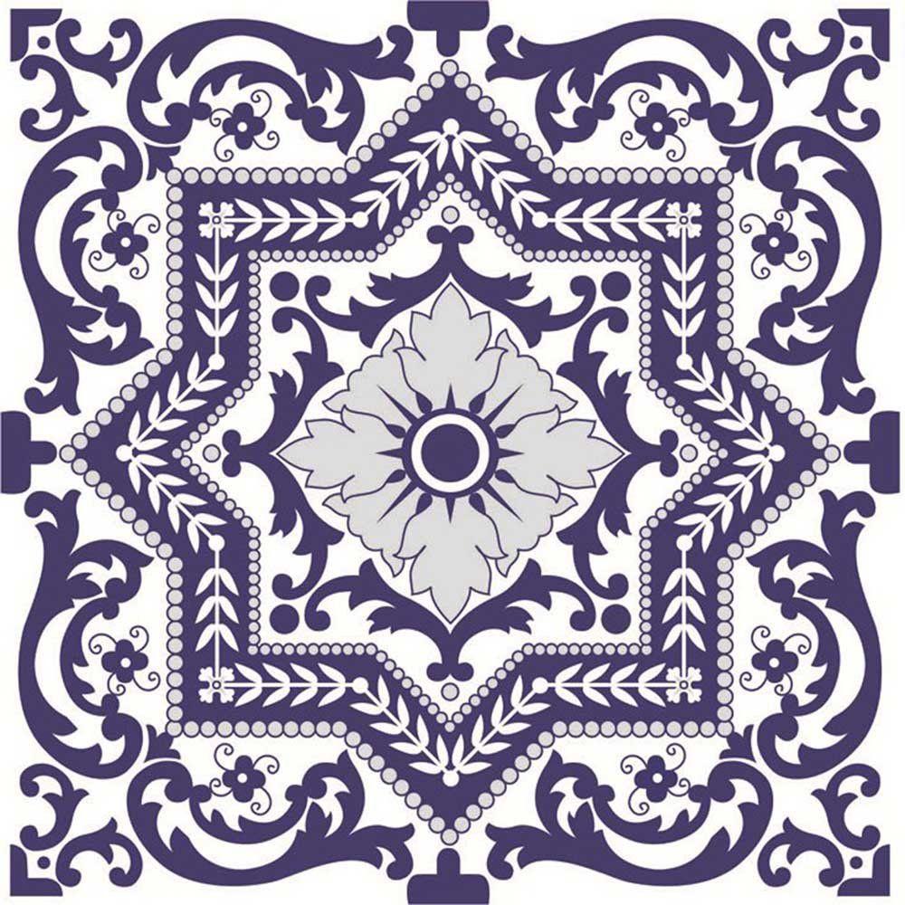Adesivo para Azulejo Português Tejo Vinil 15x15cm 16 peças Cosi Dimora