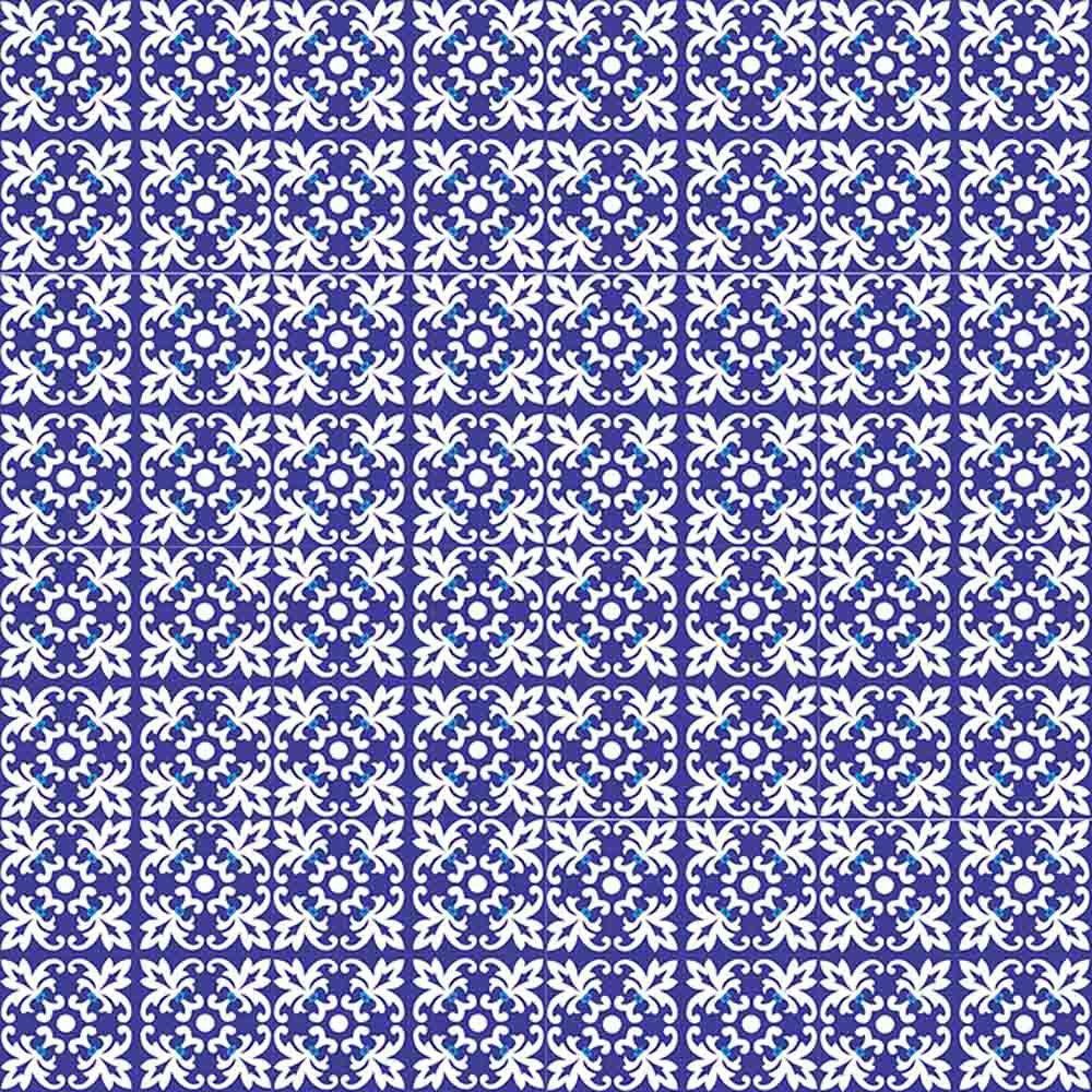 Adesivo para Azulejo Português Trancoso Vinil 15x15cm 16 peças Cosi Dimora