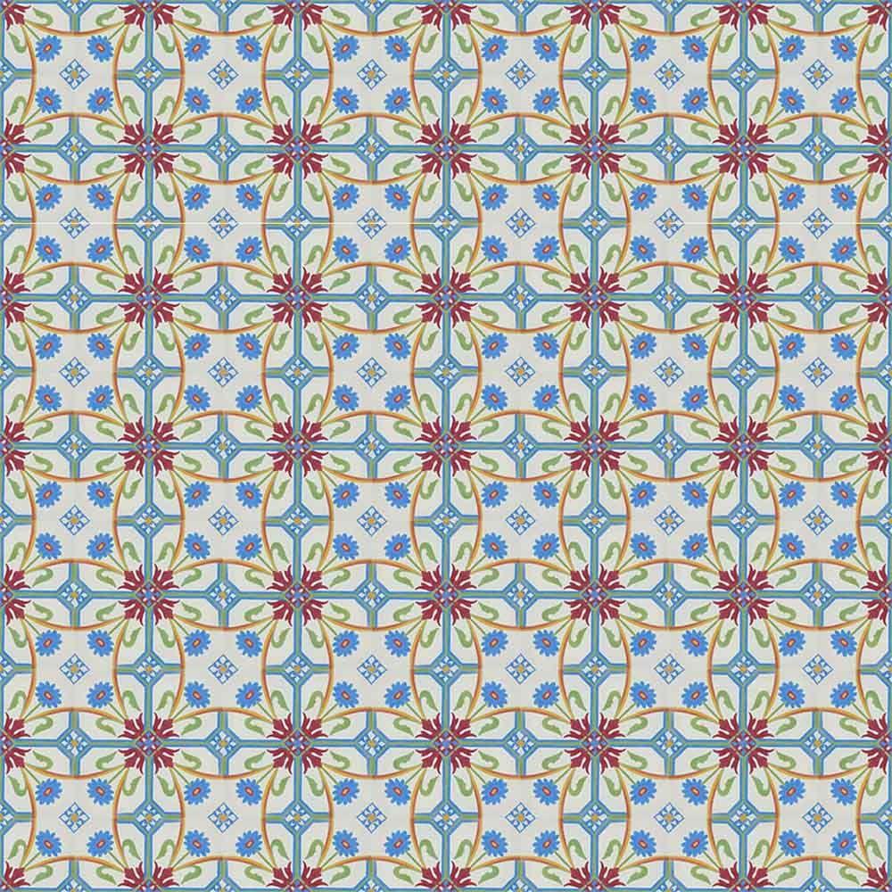 Adesivo para Azulejo Português Vizela Vinil 15x15cm 16 peças Cosi Dimora