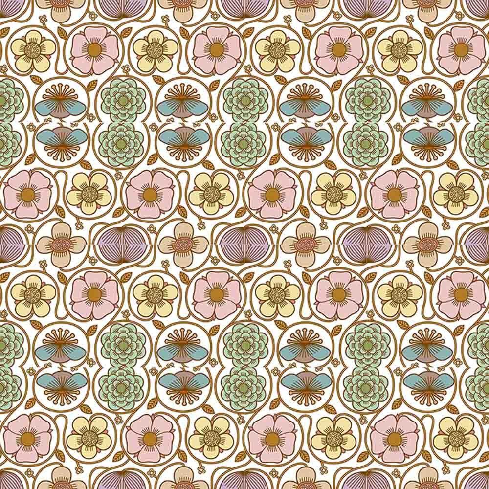 Adesivo para Azulejo Retrô Floral Vinil 15x15cm 16 peças Cosi Dimora