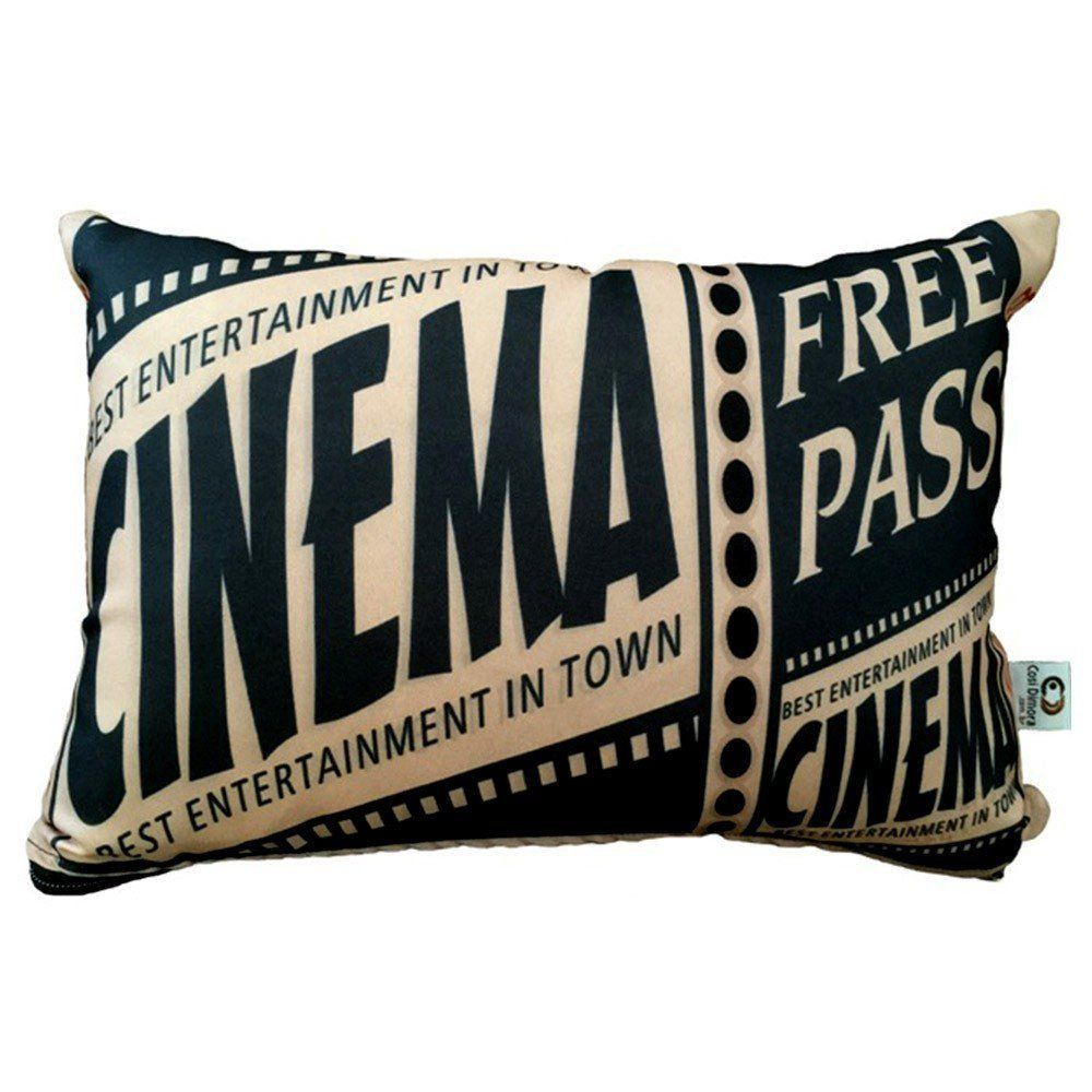 Almofada Cinema Ticket Free Pass 25x35cm Cosi Dimora