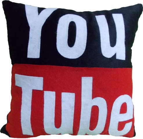 Almofada Youtube Logo Handmade Sensuelle