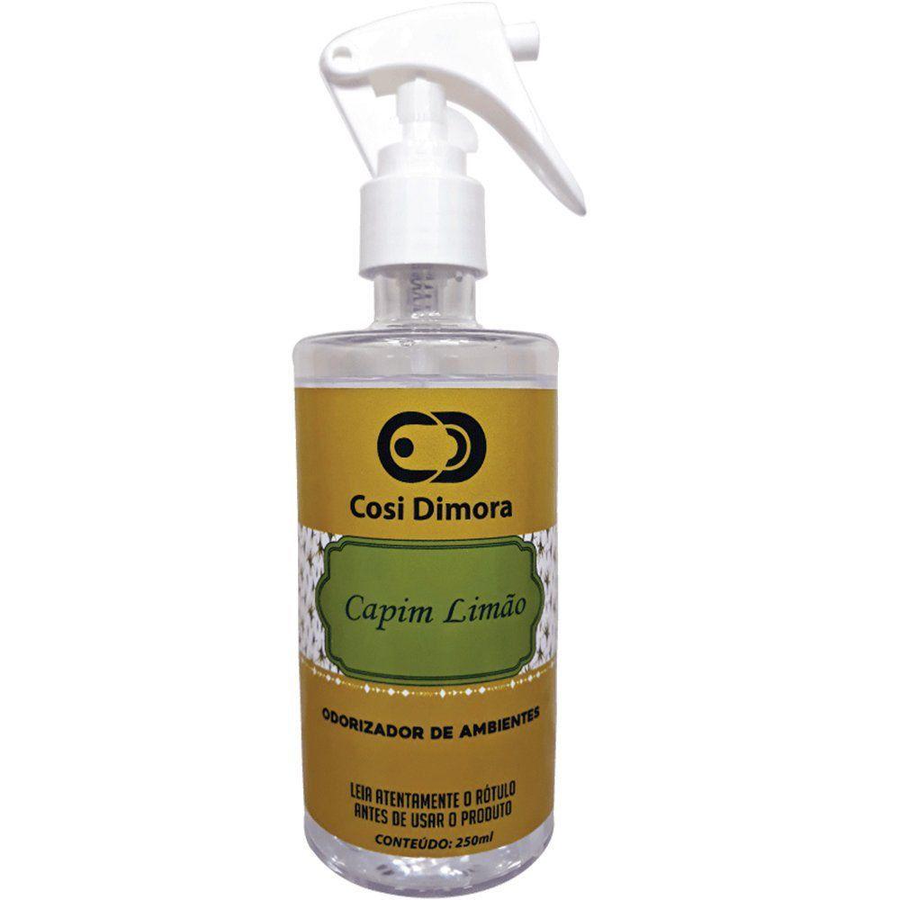 Odorizador Spray para Ambientes Capim Limão Essência Importada 250ml Cosi Dimora