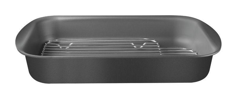 Assadeira Tramontina com grelha alumínio com revestimento interno antiaderente 39 x 28cm