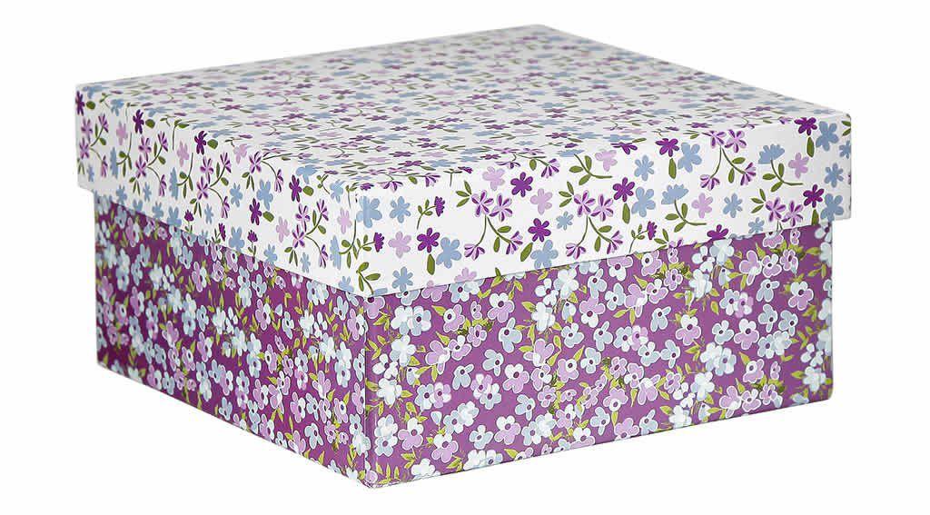 Caixa Organizadora Floral Lilás