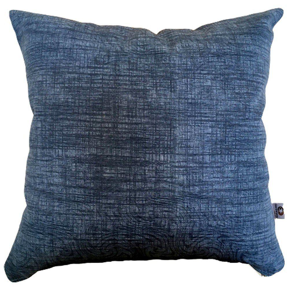 Capa de Almofada Estampa Texturizada Azul Marinho 40x40cm Cosi Dimora