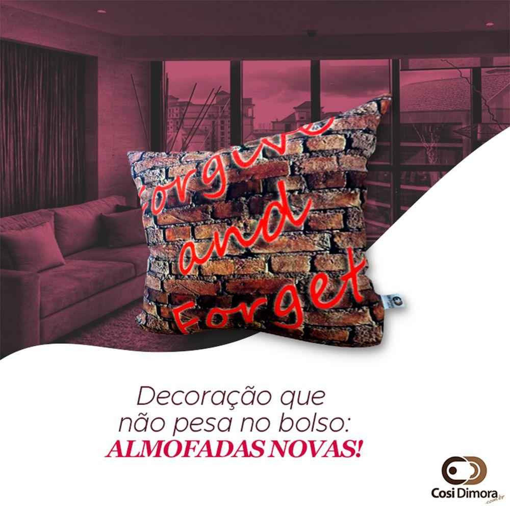 Capa de Almofada Forgive And Forget 40x40cm Cosi Dimora