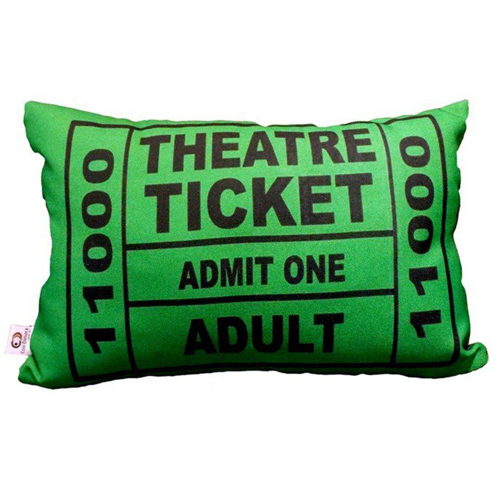 Capa de Almofada Theatre Ticket Verde 25x35cm Cosi Dimora