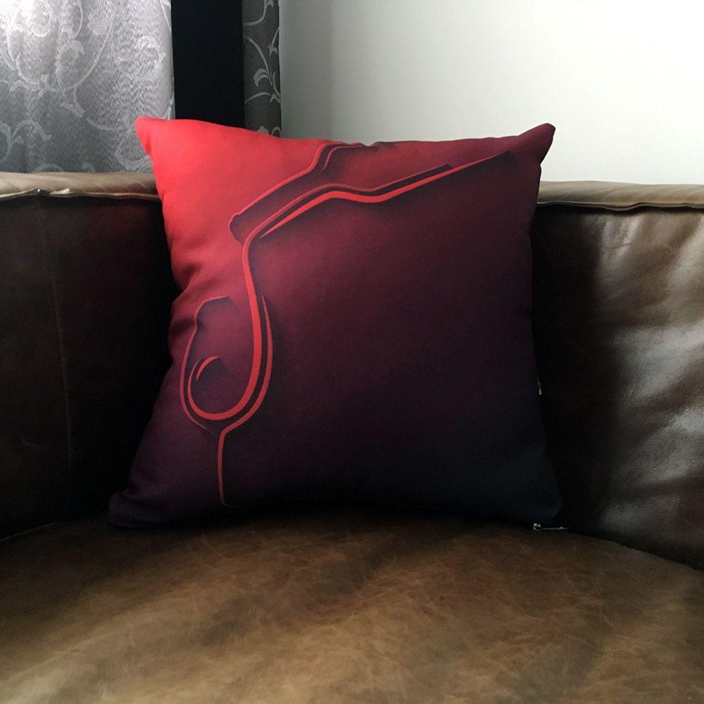 Capa de Almofada Vinho Tinto 40x40cm Cosi Dimora