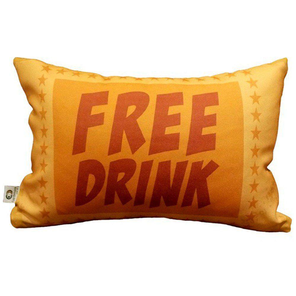 Almofada Cinema Ticket Free Drink 25x35cm Cosi Dimora