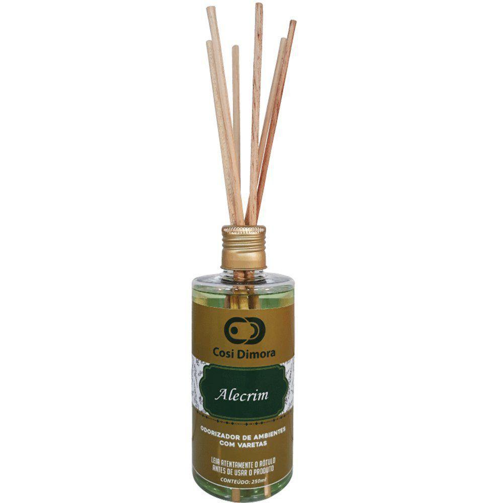 Odorizador com Varetas para Ambientes Alecrim Essência Importada 250ml Cosi Dimora