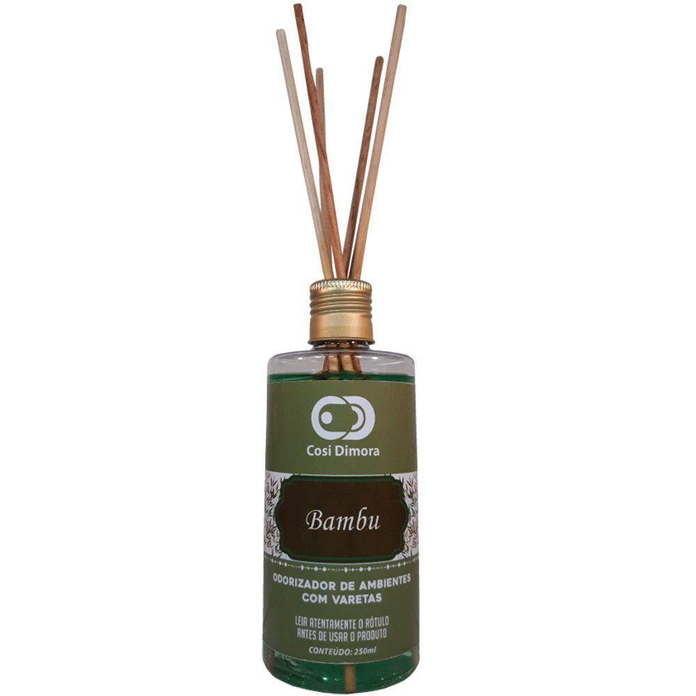 Odorizador com Varetas para Ambientes Bambu Essência Importada 250ml Cosi Dimora