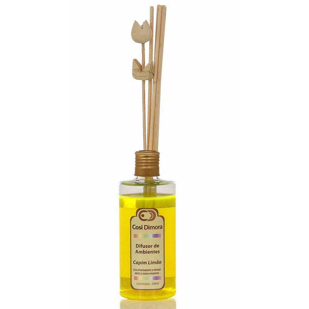 Difusor Aromatizador de Ambientes Capim Limão 250ml