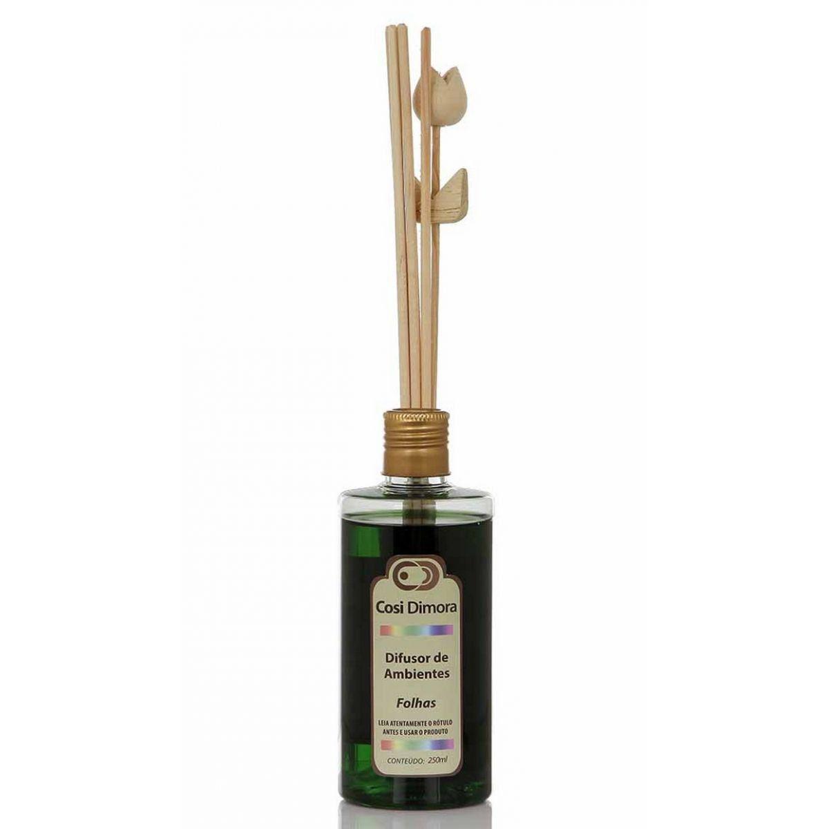 Odorizador com Varetas para Ambientes Folhas Essência Importada 250ml Cosi Dimora
