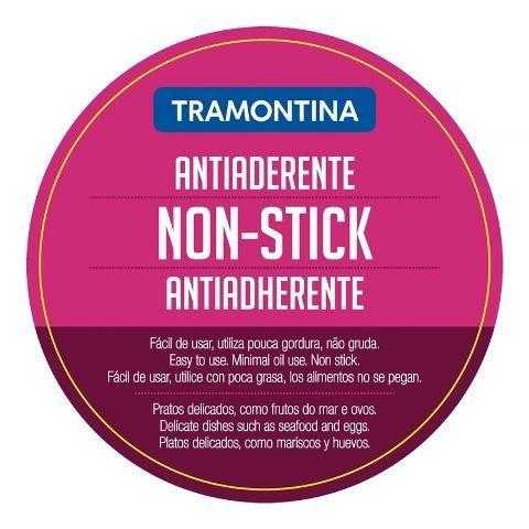 Frigideira Tramontina aço inox revestimento antiaderente Ø24cm