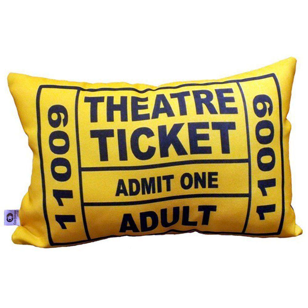 Jogo de Almofadas Theatre Ticket 4 cores 25x35cm Cosi Dimora