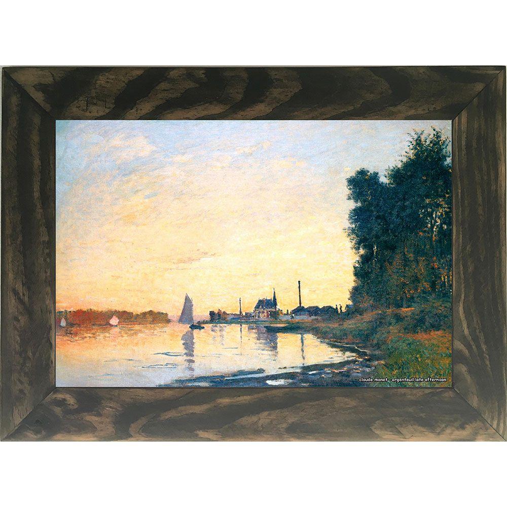 Quadro Decorativo A4 Argenteuil Late Afternoon - Claude Monet Cosi Dimora
