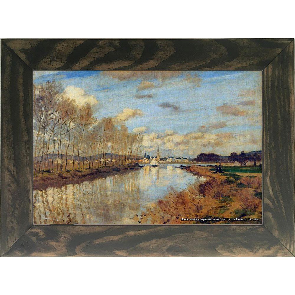 Quadro Decorativo A4 Argenteuil Seen From the Small Arm of the Seine - Claude Monet Cosi Dimora