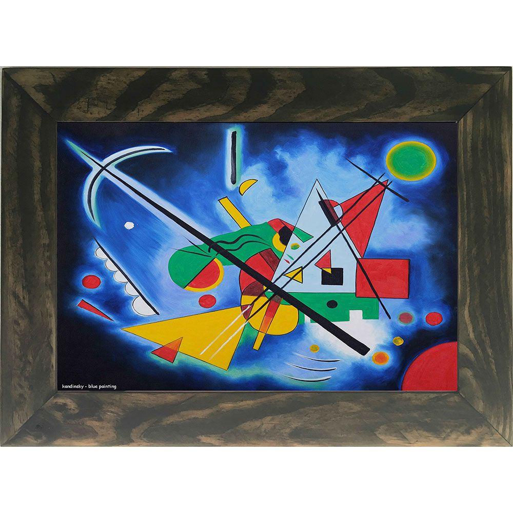 Quadro Decorativo A4 Blue Painting - Kandinsky Cosi Dimora