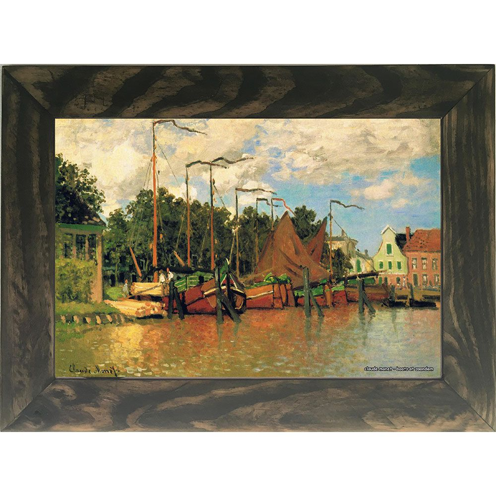 Quadro Decorativo A4 Boats at Zaandam - Claude Monet Cosi Dimora
