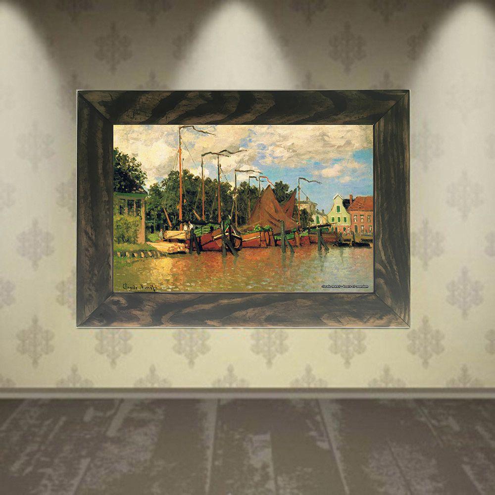 Quadro Decorativo A4 Boats at Zaandam - Claude Monet Cosi Dimora