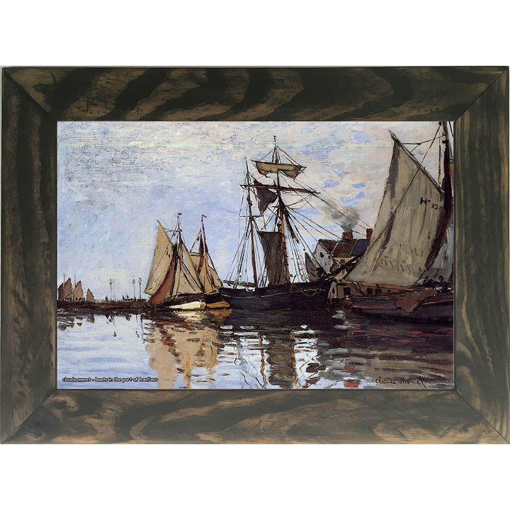 Quadro Decorativo A4 Boats in the Port of Honfleur - Claude Monet Cosi Dimora