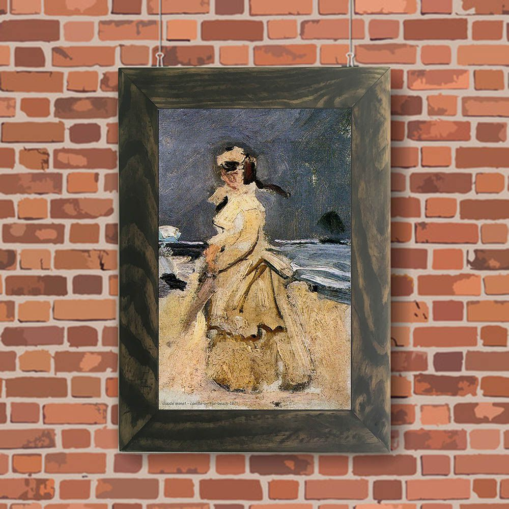 Quadro Decorativo A4 Camille on the Beach 1871 - Claude Monet Cosi Dimora