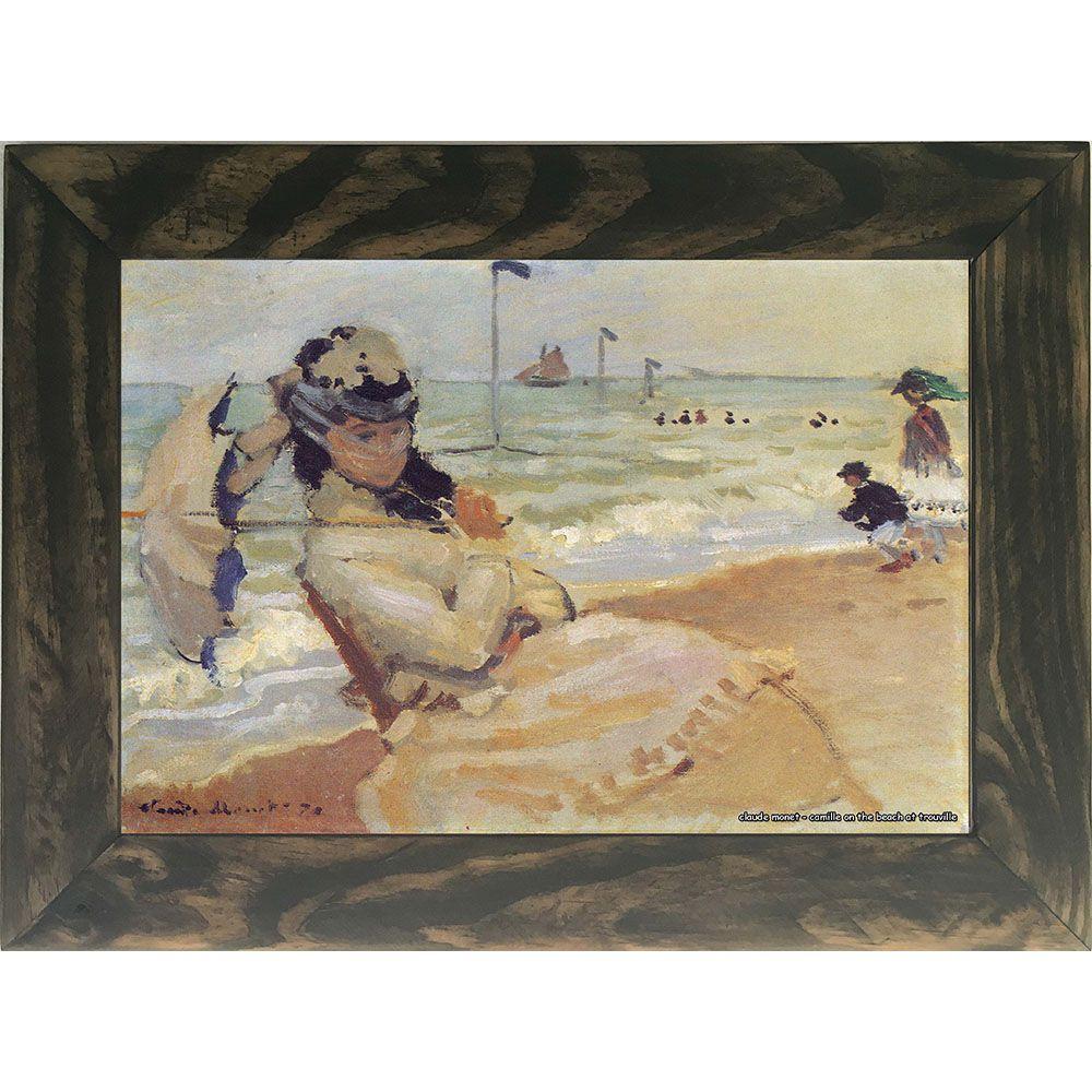Quadro Decorativo A4 Camille on the Beach at Trouville - Claude Monet Cosi Dimora