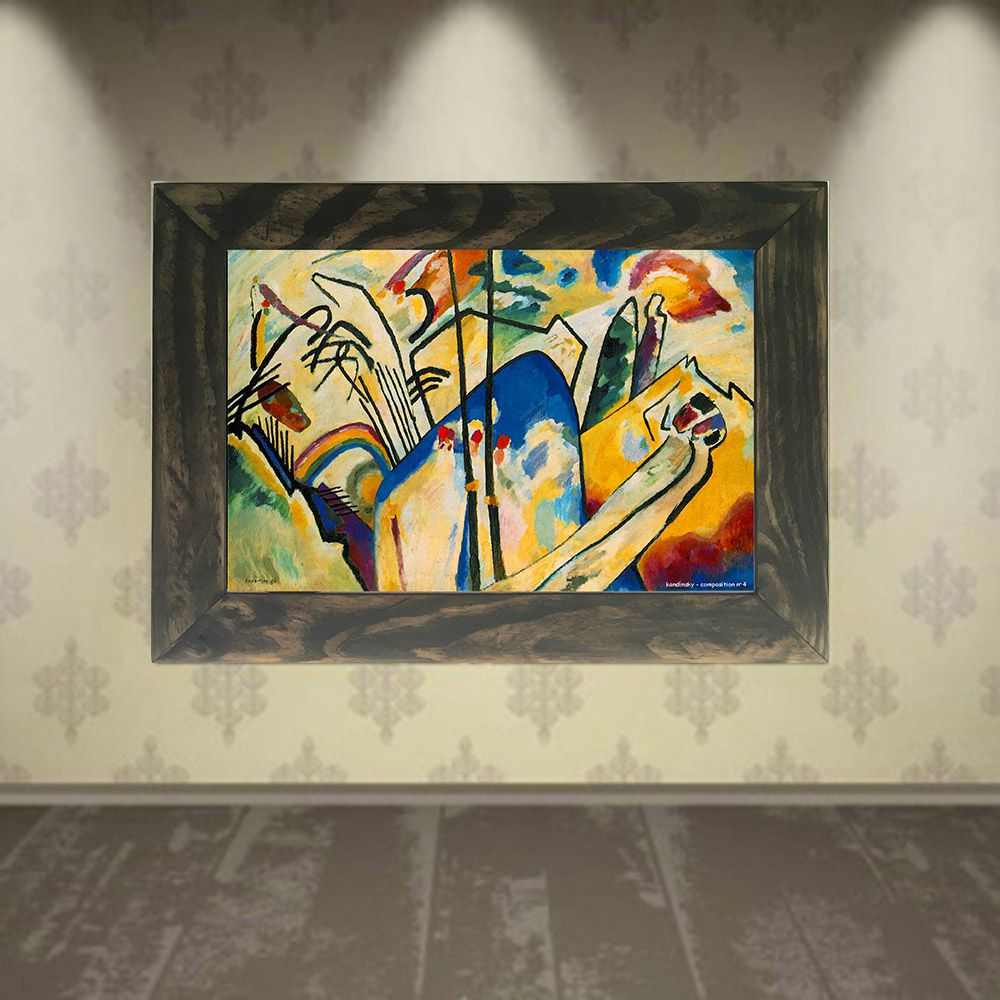 Quadro Decorativo A4 Composition 4 - Kandinsky Cosi Dimora