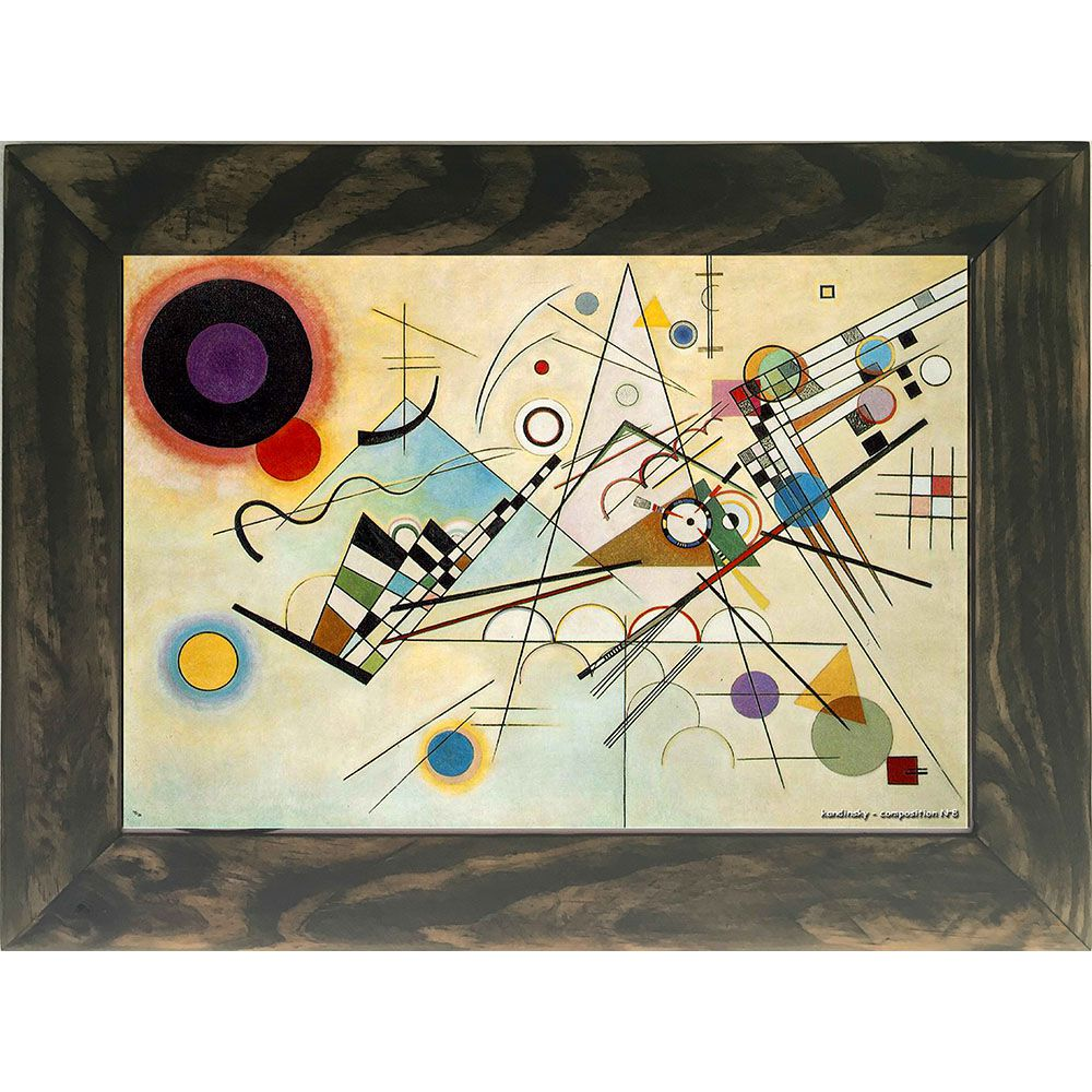 Quadro Decorativo A4 Composition 8 - Kandinsky Cosi Dimora