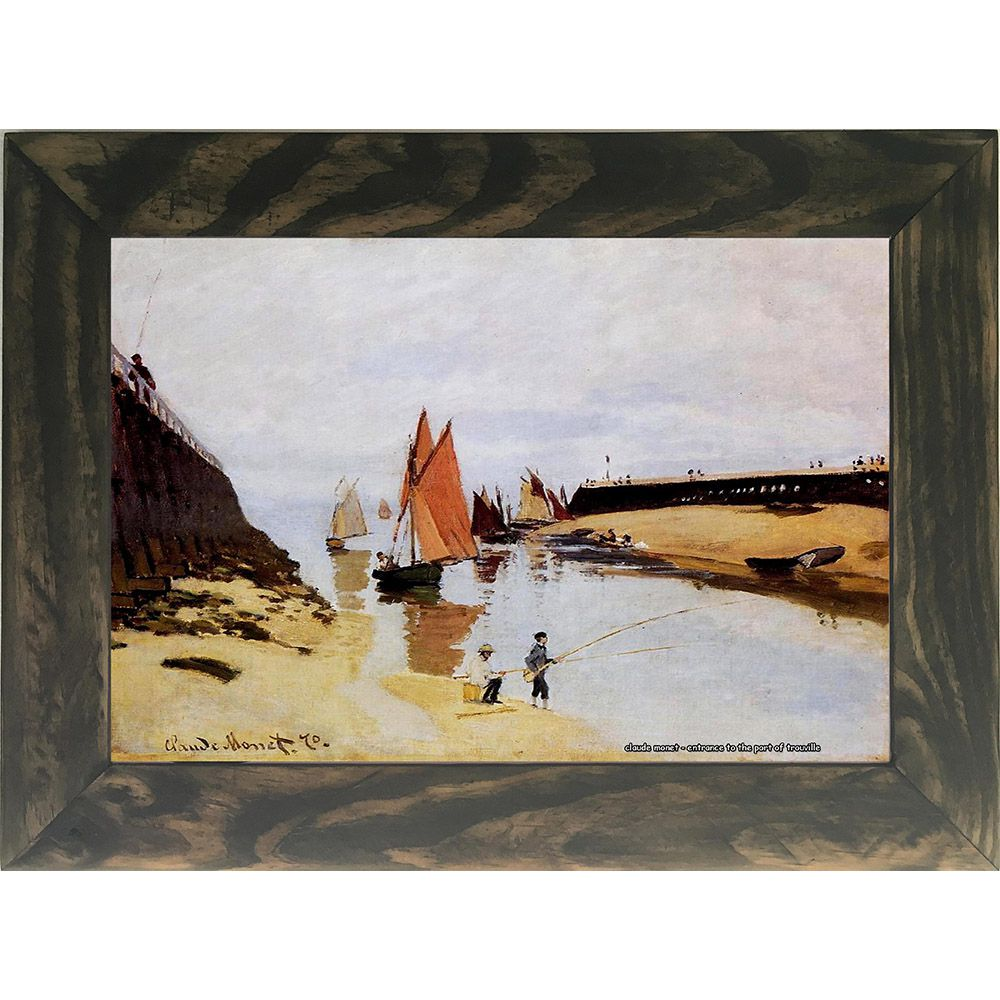 Quadro Decorativo A4 Entrance to the Port of Trouville - Claude Monet Cosi Dimora