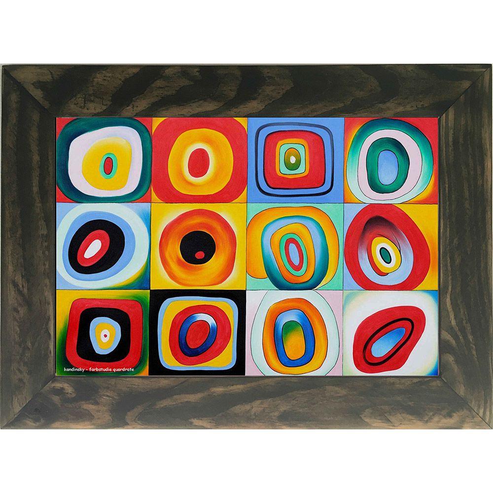 Quadro Decorativo A4 Farbstudie Quardrate - Kandinsky Cosi Dimora