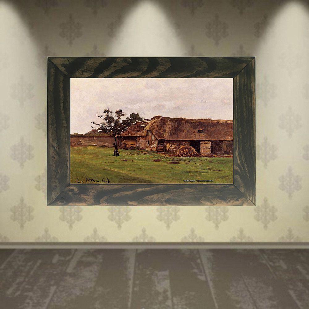 Quadro Decorativo A4 Farm Near Honfleur - Claude Monet Cosi Dimora