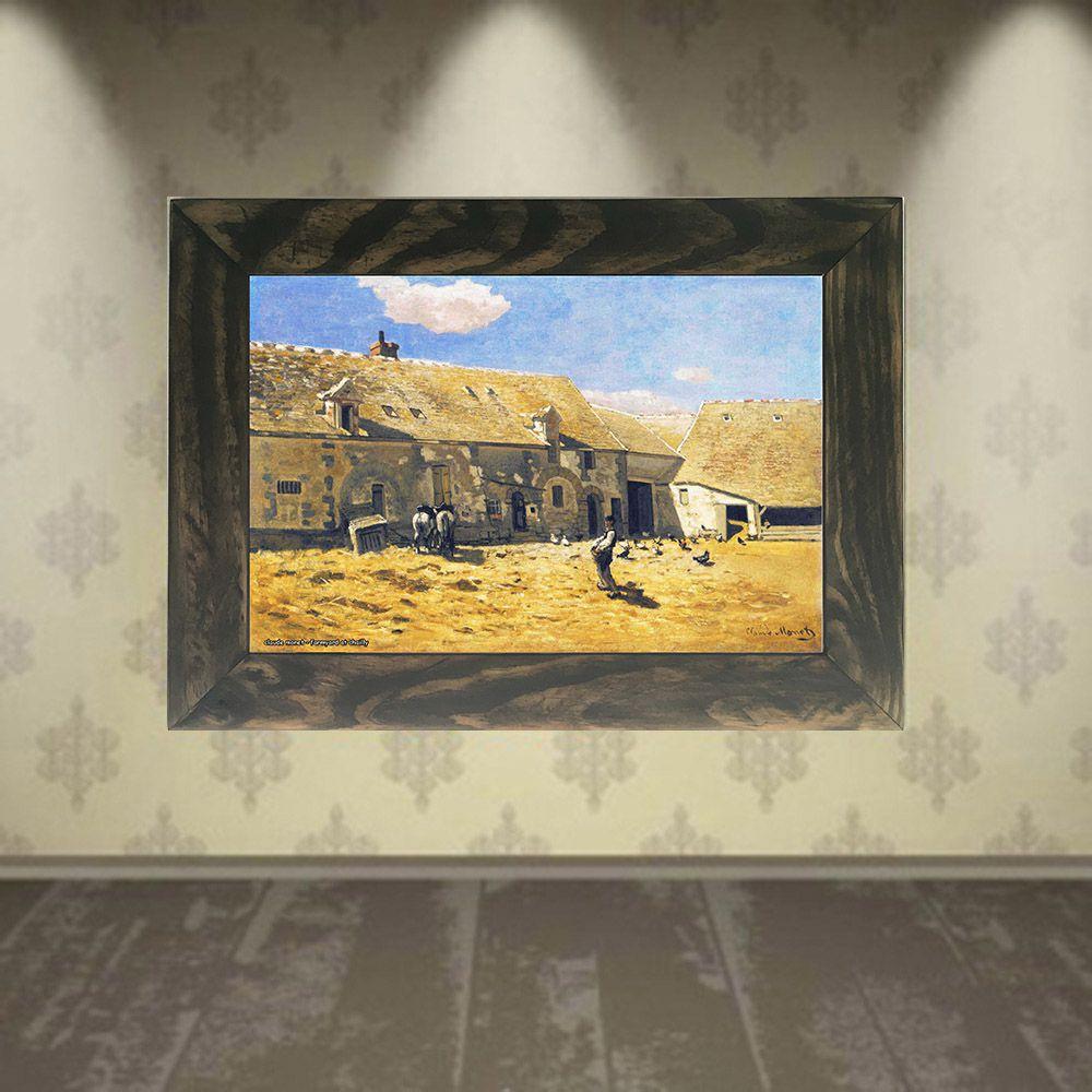 Quadro Decorativo A4 Farmyard at Chailly - Claude Monet Cosi Dimora