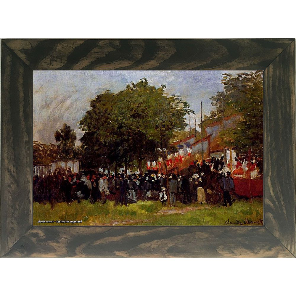 Quadro Decorativo A4 Festival at Argenteuil - Claude Monet Cosi Dimora