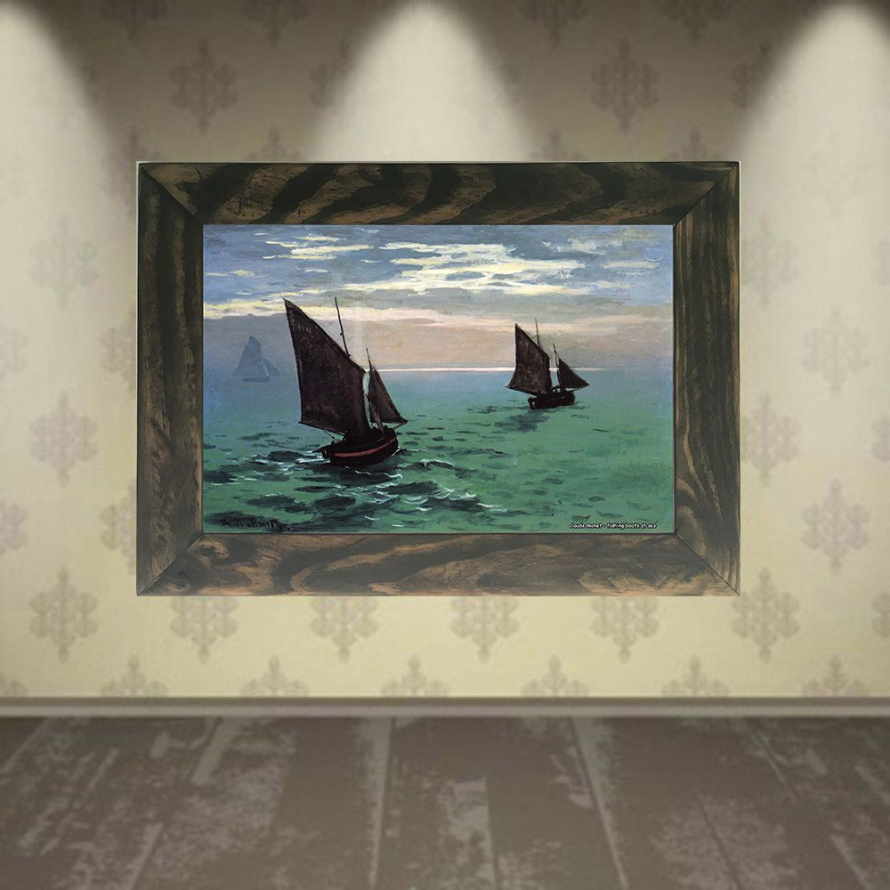 Quadro Decorativo A4 Fishing Boats at Sea - Claude Monet Cosi Dimora