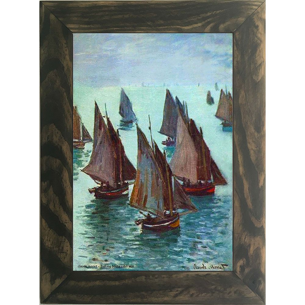 Quadro Decorativo A4 Fishing Boats Calm Sea - Claude Monet Cosi Dimora