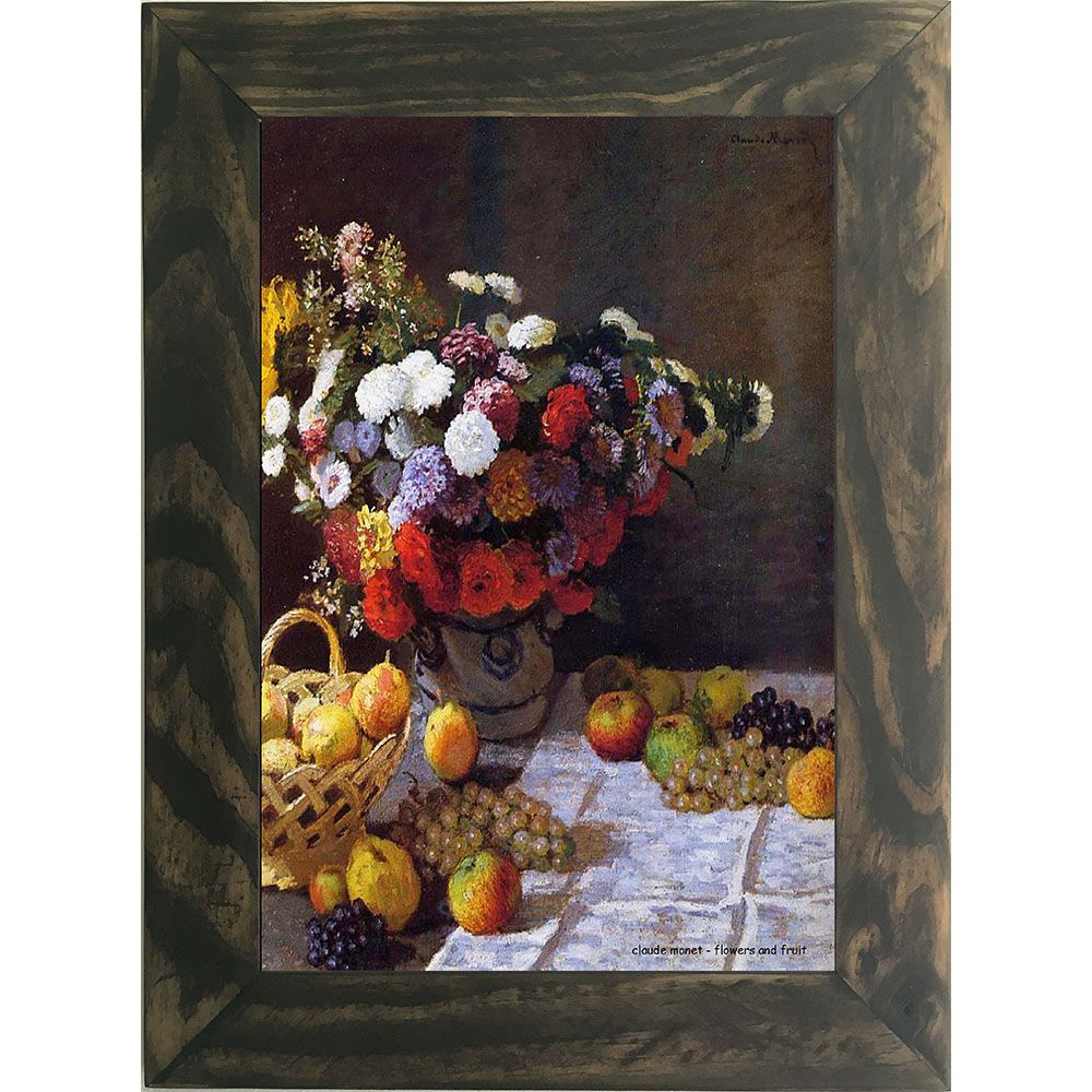 Quadro Decorativo A4 Flowers and Fruit - Claude Monet Cosi Dimora