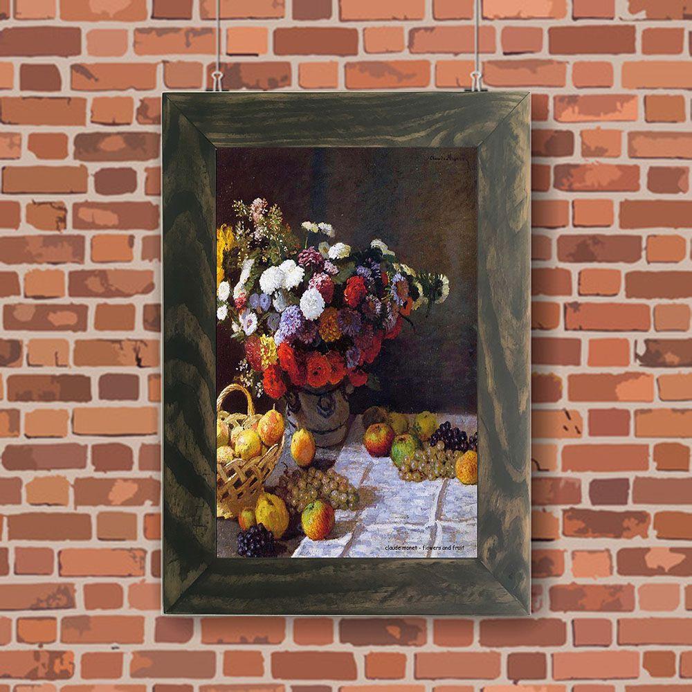 Quadro Decorativo A4 Flowers and Fruit - Claude Monet Cosi Dimora