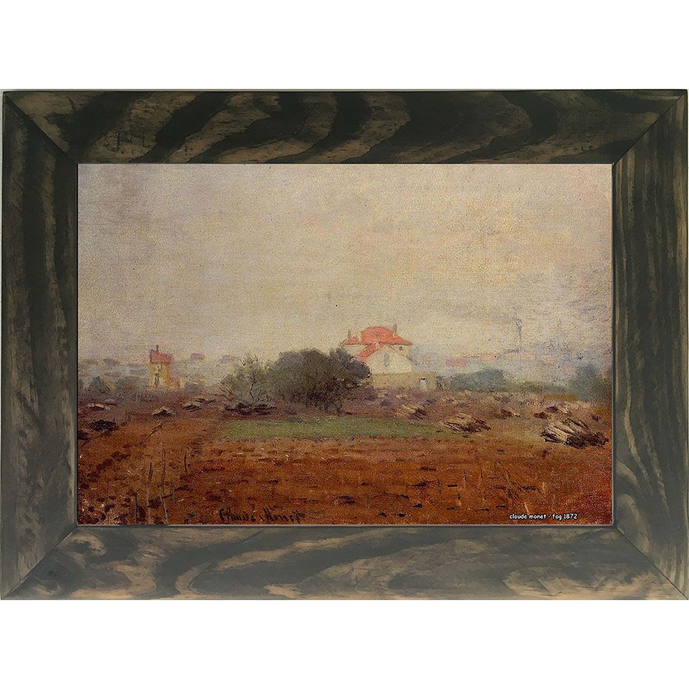 Quadro Decorativo A4 Fog 1872 - Claude Monet - Cosi Dimora