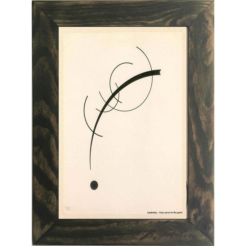 Quadro Decorativo A4 Free Curve to the Point - Kandinsky Cosi Dimora