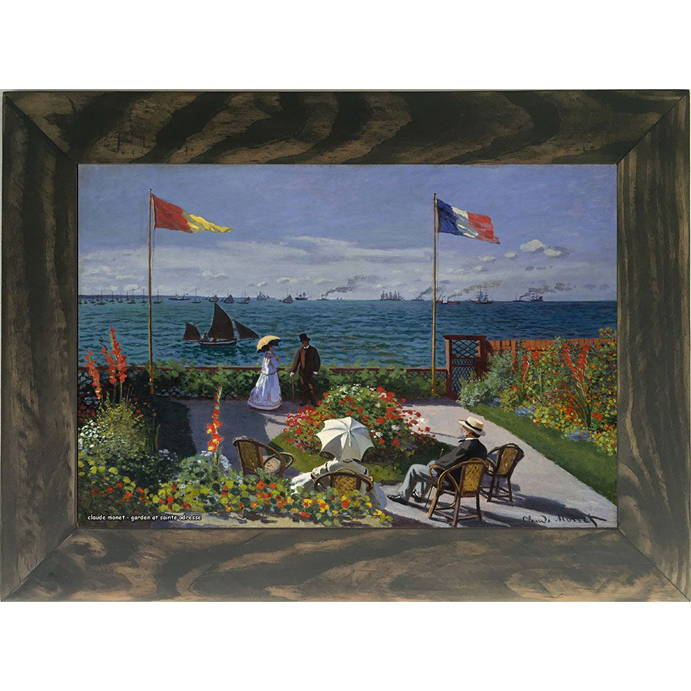 Quadro Decorativo A4 Garden at Sainte Adresse - Claude Monet Cosi Dimora
