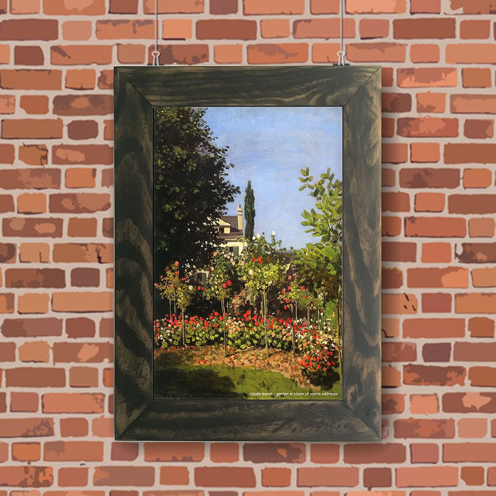 Quadro Decorativo A4 Garden in Bloom at Sainte Addresse - Claude Monet Cosi Dimora