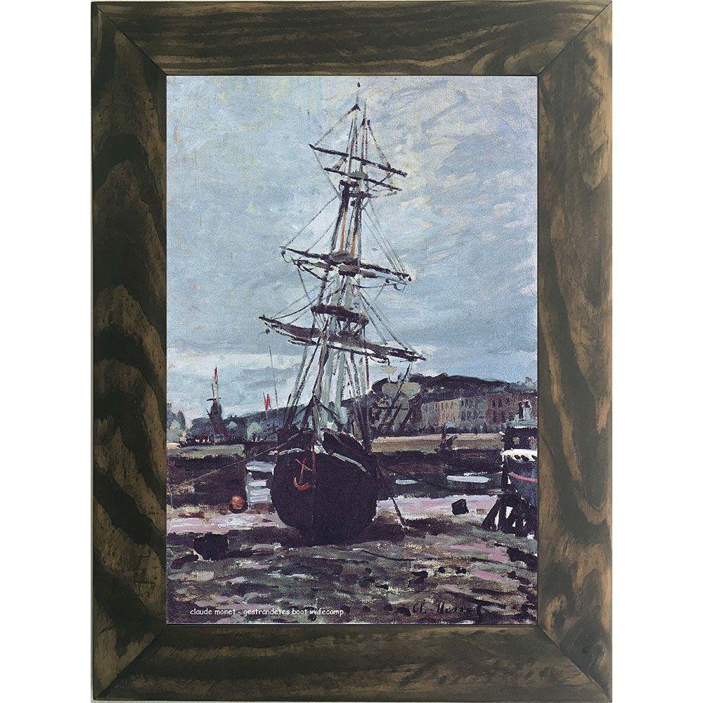 Quadro Decorativo A4 Gestrandetes Boot in Fecamp - Claude Monet Cosi Dimora
